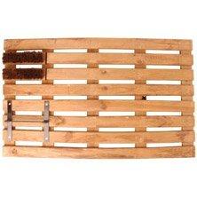 Fußmatte Fußabtreter Holz mit Schaber und Bürste - Petroleumofen -shop