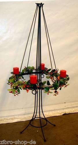 antik st nder adventskranz durchmesser 50cm h he 135cm. Black Bedroom Furniture Sets. Home Design Ideas